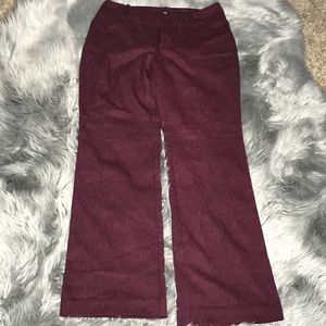 🦋3/$15 Women's Mossimo Burgundy Slacks Size 10